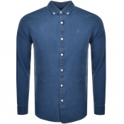 Farah Vintage Brewer Indigo Shirt Blue