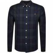 Farah Vintage Brewer Tartan Shirt Green