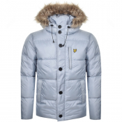 Product Image for Lyle And Scott Hooded Puffer Bomber Jacket Blue