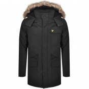Product Image for Lyle And Scott Hooded Microfleece Jacket Black