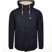 Product Image for Lyle And Scott Hooded Padded Jacket Navy