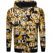 Versace Jeans Couture Full Zip Logo Hoodie Black