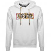Product Image for Versace Jeans Couture Logo Hoodie White