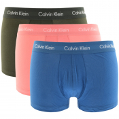 Calvin Klein Underwear 3 Pack Trunks Pink