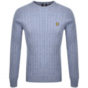 Product Image for Lyle And Scott Crew Neck Cable Knit Jumper Blue