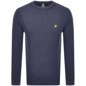 Product Image for Lyle And Scott Crew Neck Knit Jumper Navy
