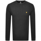 Lyle And Scott Crew Neck Knit Jumper Black
