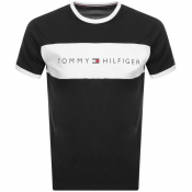 Tommy Hilfiger Lounge Logo Flag T Shirt Black