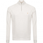 Product Image for Farah Vintage Jim Half Zip Sweatshirt Beige