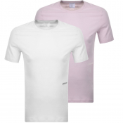 Product Image for Calvin Klein 2 Pack Crew Neck T Shirts White