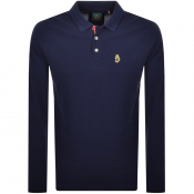 Product Image for Luke 1977 New Mead Long Sleeved Polo T Shirt Navy