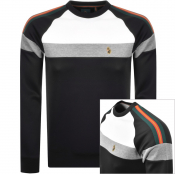 Luke 1977 Adam 2 Colour Block Sweatshirt Black