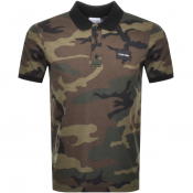 Product Image for Calvin Klein Camo Polo T Shirt Green