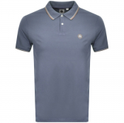 Pretty Green Barton Tipped Polo T Shirt Blue