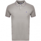Pretty Green Barton Tipped Polo T Shirt Grey