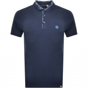 Pretty Green Paisley Carver Polo T Shirt Navy