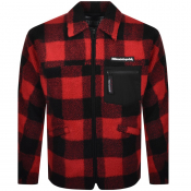Billionaire Boys Club Overshirt Fleece Jacket Red