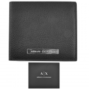 Product Image for Armani Exchange Leather Bifold Wallet Black