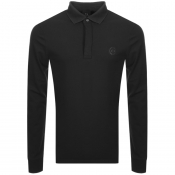 Armani Exchange Long Sleeved Polo T Shirt Black
