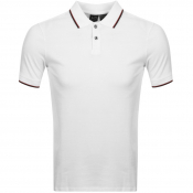 Armani Exchange Tipped Polo T Shirt White