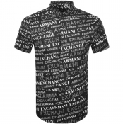 Armani Exchange Short Sleeved Shirt Black
