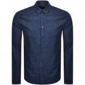 Product Image for Armani Exchange Long Sleeved Denim Shirt Navy