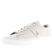 Product Image for Ralph Lauren Sayer Canvas Trainers Grey