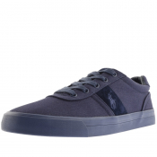Product Image for Ralph Lauren Hanford Canvas Trainers Navy