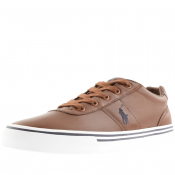 Ralph Lauren Hanford Leather Trainers Brown