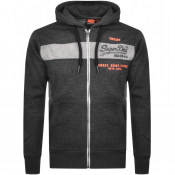 Product Image for Superdry Orange Label Full Zip Magma Hoodie Black