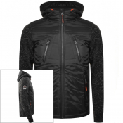 Superdry Storm Hybrid Hooded Jacket Black