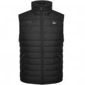 Product Image for Superdry Padded Double Zip Gilet Jacket Black