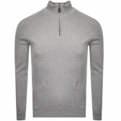 Superdry Orange Label Half Zip Kint Jumper Grey
