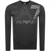 Product Image for EA7 Emporio Armani Long Sleeved Logo T Shirt Grey