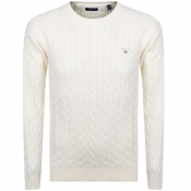 Gant Cable Knit Jumper Cream