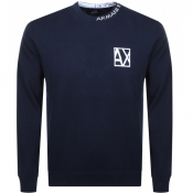 Product Image for Armani Exchange Crew Neck Knit Jumper Navy