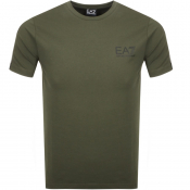 EA7 Emporio Armani Taped Logo T Shirt Green