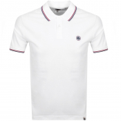 Pretty Green Tipped Polo T Shirt White