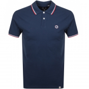 Pretty Green Tipped Polo T Shirt Navy