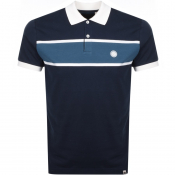 Pretty Green Lloyd Polo T Shirt Blue