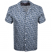 Pretty Green Short Sleeve Barley Shirt Blue