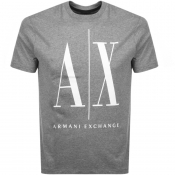 Product Image for Armani Exchange Crew Neck Logo T Shirt Grey