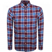 Gant Long Sleeve Winter Twill Check Shirt Red
