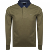 Gant Heavy Rugger Long Sleeve Polo T Shirt Green