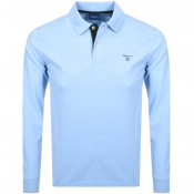 Product Image for Gant Long Sleeve Rugger Polo T Shirt Blue