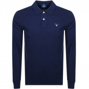 Product Image for Gant Oxford Long Sleeve Rugger Polo T Shirt Navy