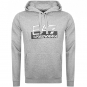 Product Image for EA7 Emporio Armani Visibility Logo Hoodie Grey