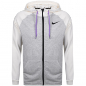 Nike Training Dry Full Zip Logo Hoodie Grey
