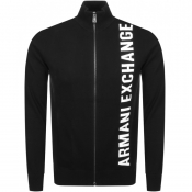Product Image for Armani Exchange Full Zip Knit Jumper Black