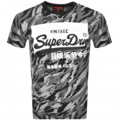 Product Image for Superdry Camouflage Short Sleeved T Shirt Black